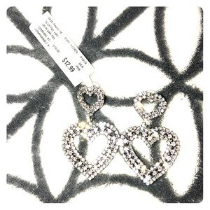 NWT Heart Shaped Earrings